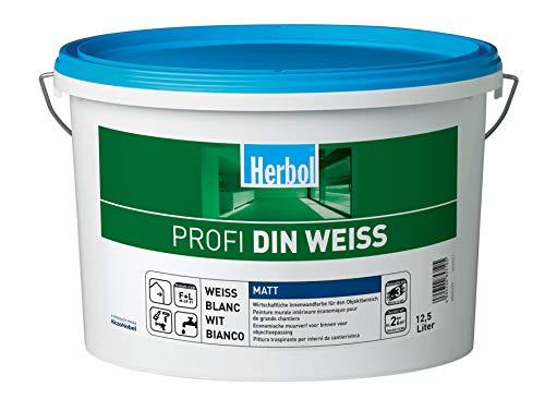 Herbol Profi DIN weiß Wandfarbe Innenfarbe matt,...