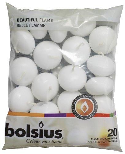 bolsius 103632053702 Schwimmkerzen Wachs weiß,...