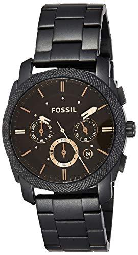 Fossil Herren analog Quarz Uhr mit Edelstahl...