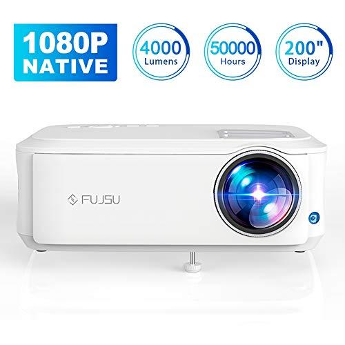 Beamer 1080P Full HD Native, 4000 Lumen Video...