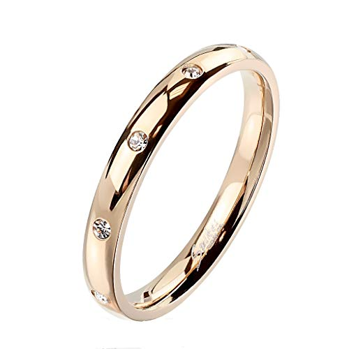Paula & Fritz Damen-Ring glänzend 3mm Zirkonia...