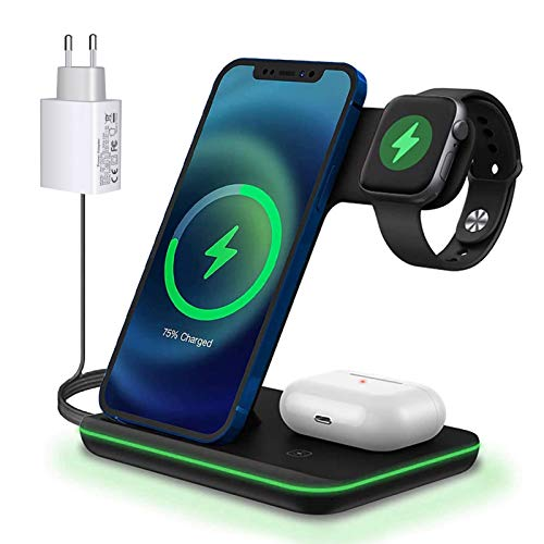 Kabelloses Laden,15W Fast Wireless Charger(QC 3.0...