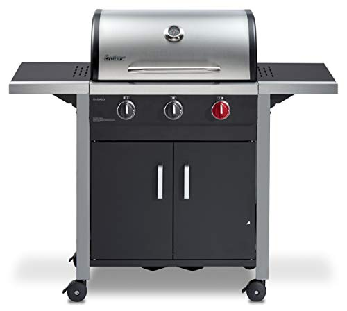 Enders® Gasgrill CHICAGO 3 R TURBO, mit Gussrost,...