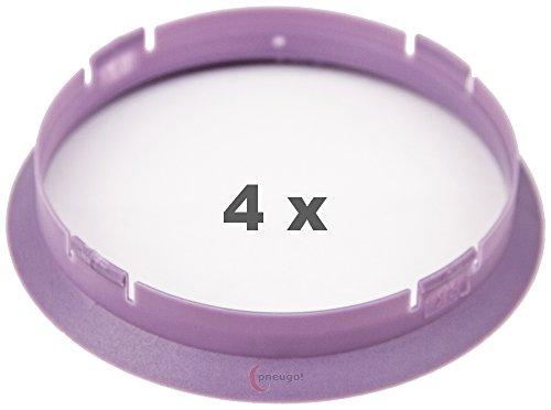 4 x Zentrierringe 74.1 mm auf 72.6 mm lila/purple