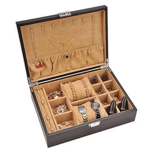 BWCGA Schmuck-Box - Holz Schmuckschatulle mit...