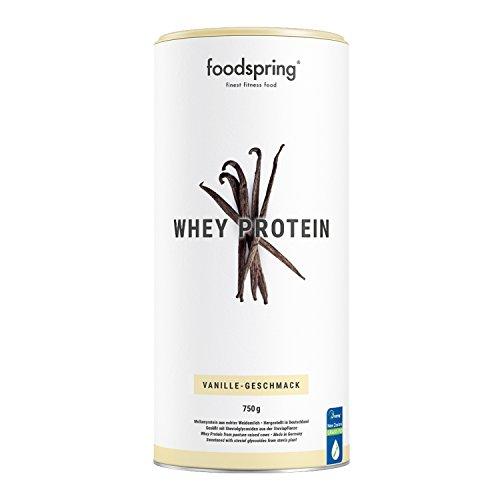 foodspring Whey Protein Pulver, 750g, Vanille,...