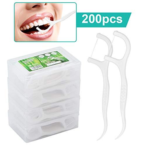 Zahnseide Dental Floss 200 Stück Zahnseide Stick...