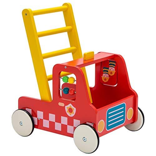 Kinder Lauflernwagen Holz Baby Lauflernhilfe...