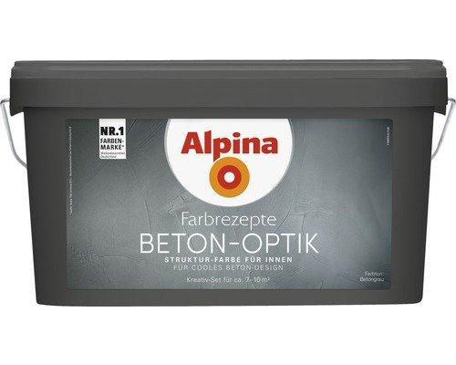 Alpina Farbrezepte BETON ART Komplett-Set: 3 L....