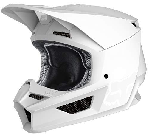 FOX V1 Matte Motocross Helm Weiß Matt L