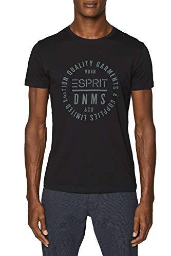 ESPRIT Herren 999EE2K800 T-Shirt, Schwarz (Black...