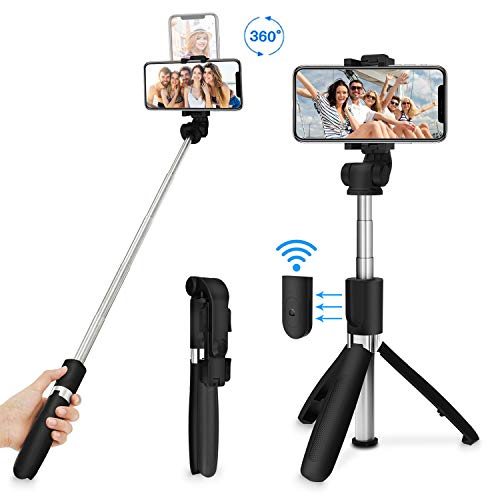 SYOSIN Selfie Stick, Bluetooth Selfiestick Stativ...