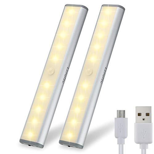 2PC LED Bewegungsmelder Schrankleuchten,...