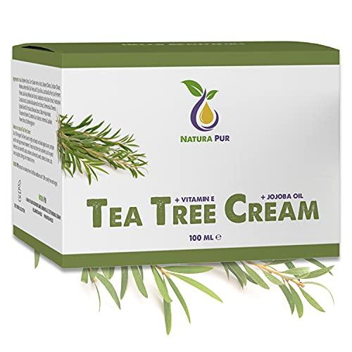 Teebaumöl Creme BIO 100ml, vegan - gegen Pickel,...