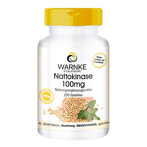 Nattokinase 100mg - 2000 FU - hochdosiert - vegan...