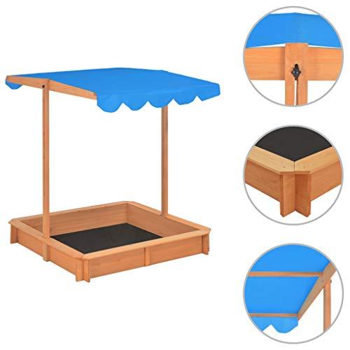 Festnight Sandkasten mit Verstellbarem Dach |...