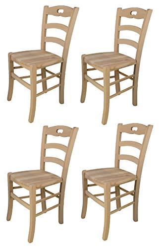 Tommychairs - 4er Set Stühle Savoie für Küche...