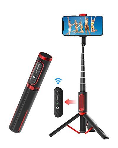 Bluetooth Selfie Stick Stativ, BlitzWolf Aluminium...
