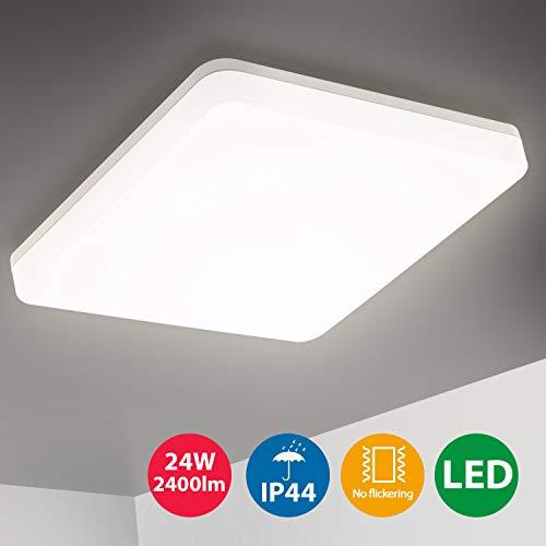 Oeegoo LED Deckenleuchte Badlampe, 24W 2400LM...