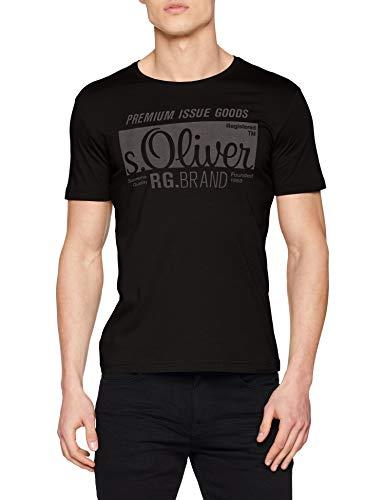 s.Oliver Herren 03.899.32.5206 T-Shirt, Schwarz,...