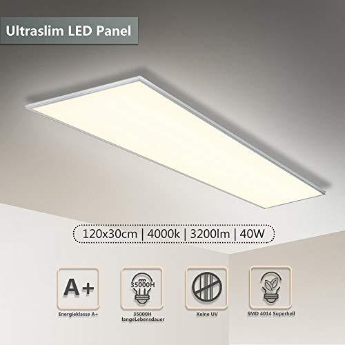 LED Panel Deckenleuchte 120x30 CM 40W 3000-3200...
