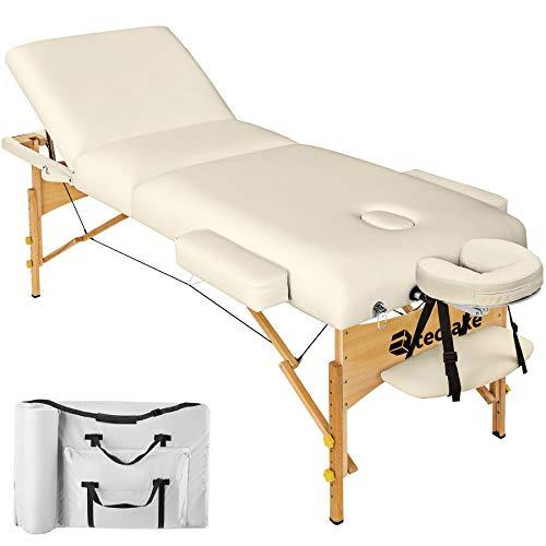 TecTake Massageliege mit 10cm reiner Polsterung +...