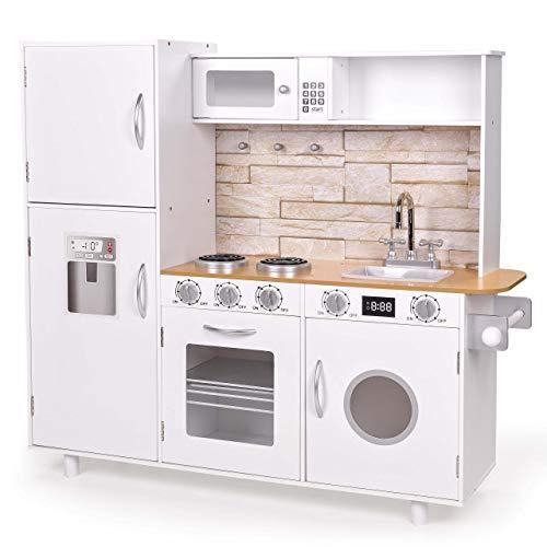 FROGGY Kinderküche aus Holz in weiß | Mit vielen...