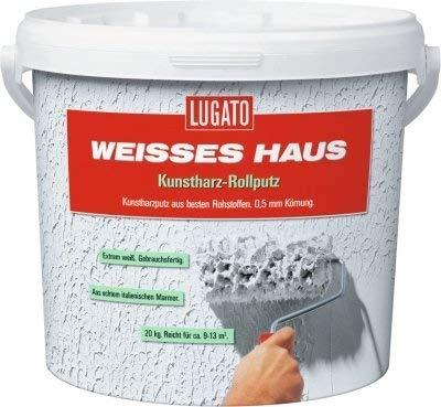 Lugato Weisses Haus Kunstharz Rollputz - Körnung...