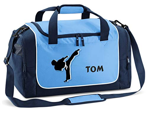 Mein Zwergenland Sporttasche in SkyBlue mit Namen,...