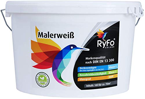RyFo Colors Malerweiß 10l (Größe wählbar) -...
