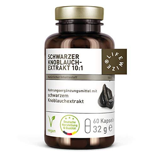 LifeWize Schwarzer Knoblauch Extrakt Hochdosiert -...