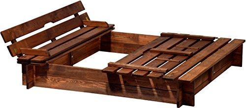 dobar 94360FSC - Sandkasten Holz mit Deckel mit...