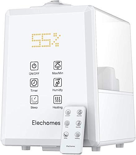Elechomes Ultraschall Luftbefeuchter 6L, Warmer...