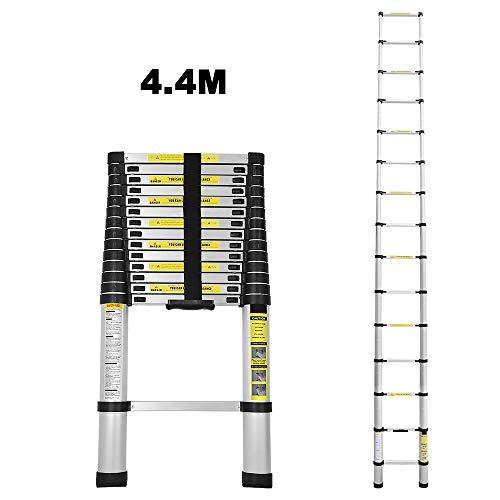 4,4M Teleskopleiter Alu Klappleiter...