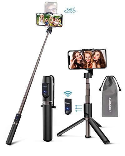 ELEGIANT Selfie Stick Stativ, Bluetooth 3 in 1...