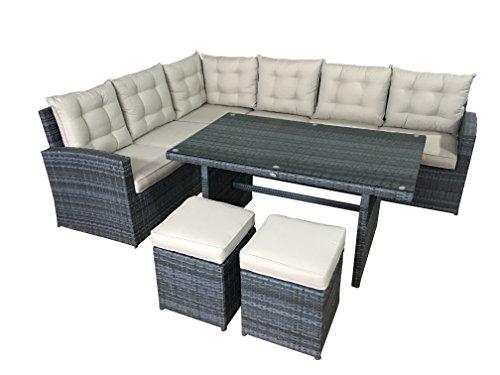 Garten Lounge Set La Palma in grau Sitzecke aus...