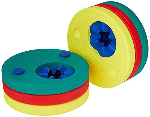 Delphin-Schwimmscheiben, rot-gelb-grün, 4291