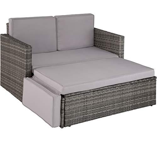 TecTake 800693 Poly Rattan Lounge Set, 2 Sitzer...