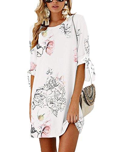 YOINS Blusenkleid Damen Kleider Tshirt Winterkleid...