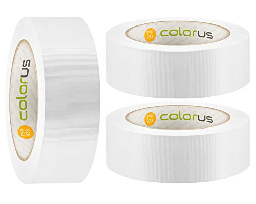 3 x Colorus PVC Abdeckband PLUS 38 mm x 33m weiß...