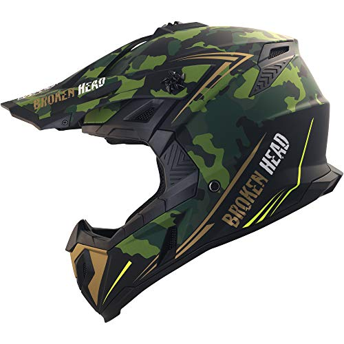 Broken Head Squadron Rebelution - Motorrad-Helm...