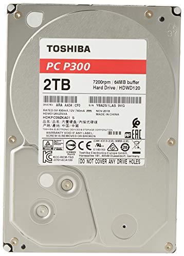 Toshiba P300 2 TB Interne Festplatte (8,9 cm (3,5...