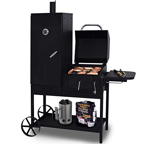 Syntrox Germany Smoker Bovini 2 Barbecue BBQ Grill...