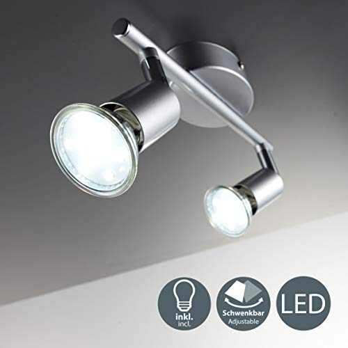 LED Deckenleuchte Schwenkbar Inkl. 2 x 3W...