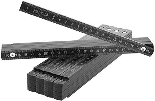com-four 5X Zollstock aus Kunststoff, 2 Meter...