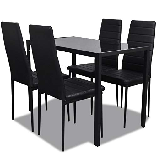 vidaXL Essgruppe 5tlg. Esstisch Set Sitzgruppe...