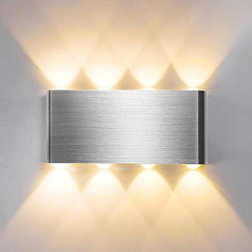 Lightess 8W LED Wandleuchte Innen Warmweiß...
