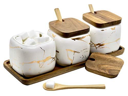 LaBrize Keramik Gewürzbehälter 3er Set Zucker-...