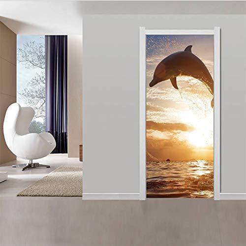 Wghz Springen Delphine 3D Tür Aufkleber...
