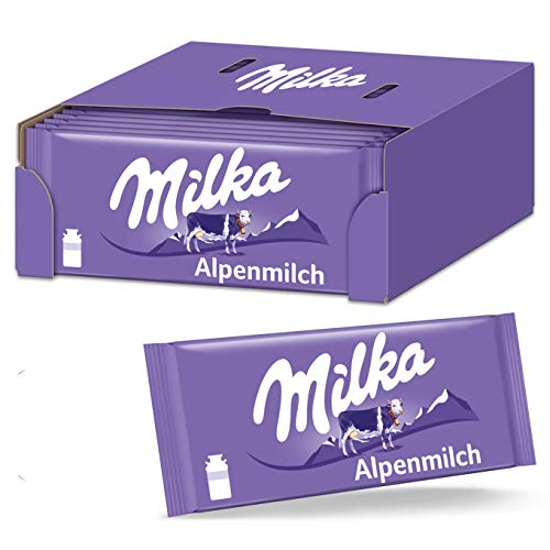 Milka Alpenmilch 24 x 100g Tafel, Zartschmelzende...